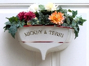 "15"" Half-Hull Boat Transom Planter with Text"