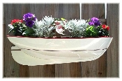 "36"" Half-Hull Boat Window Box Planter"